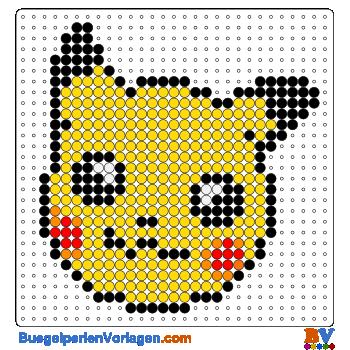 Pikachu Gesicht Bugelperlen Vorlage Auf Buegelperlenvorlagen Com Kannst Du Eine Grosse Auswahl An B Bugelperlen Vorlagen Basteln Bugelperlen Hama Perlen Muster