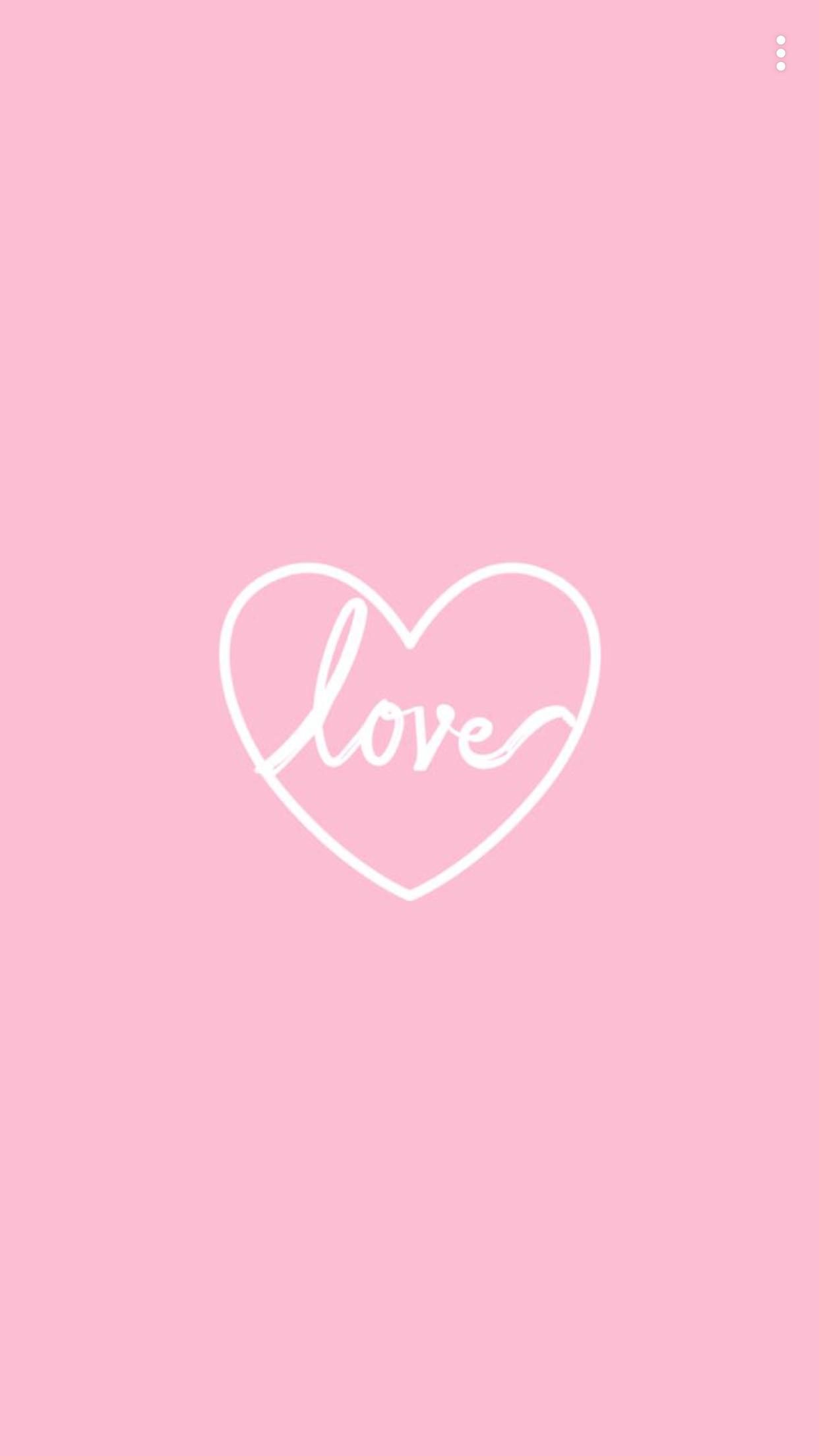Fond D Ecran Coeur Love Rose Blanc Fond D Ecran Pastel Fond D Ecran Telephone Fond Ecran
