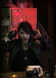 Ashley yawning