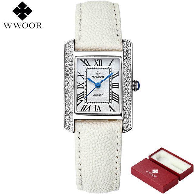 38de2b2be Brand Women Watches Women Genuine Leather Square reloj mujer Luxury Dress Watch  Ladies Quartz Rose Gold Wrist Watch Montre Femme