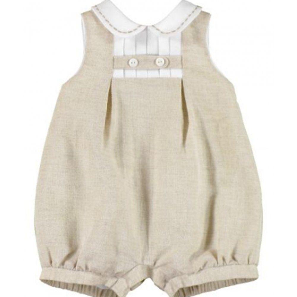 Mayoral Baby Boys Sleeveless Linen Romper Elfin Ropa
