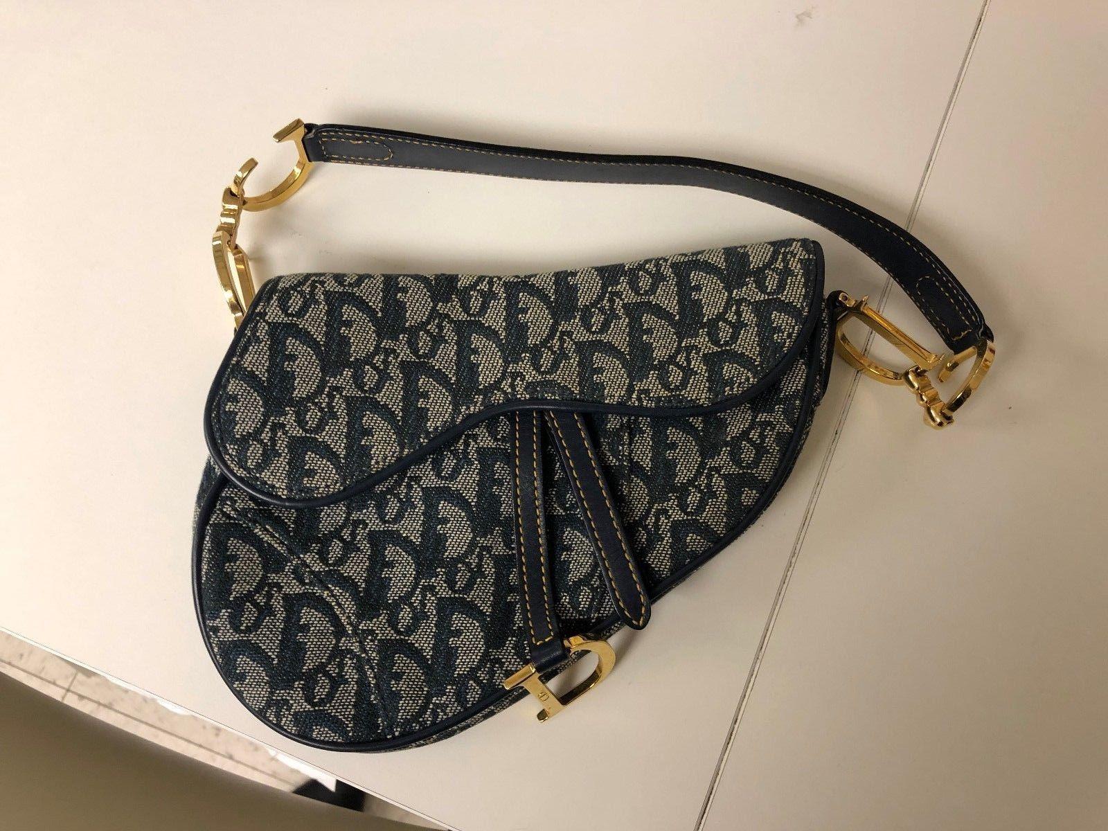 d4e2e6333 Details about Authentic Christian Dior Trotter Saddle Bag Pouch ...