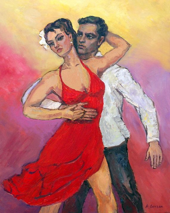 Salsa Passion Matted Print 8x10. Salsa by AllaGerzonArt, $20.00