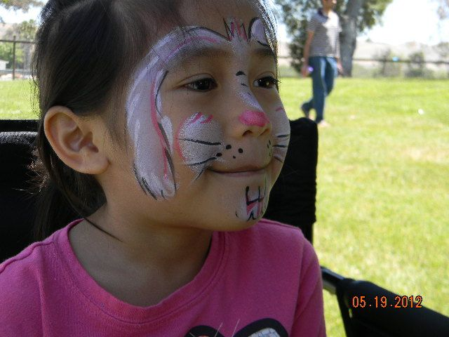 face painting at the park RABBIT