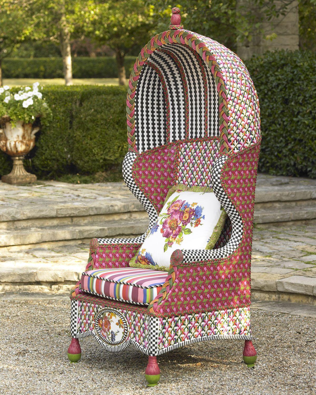 "Flower Market"" Bonnet Chair Neiman Marcus"