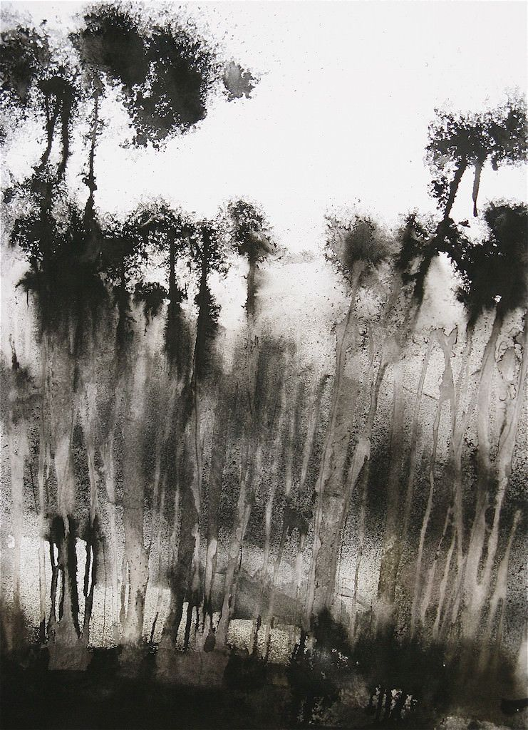 Aquarelle Encre De Chine Sur Papier De Riz By Cecile Chopin Art
