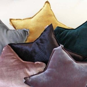 Numero 74 - Small Star Cushion - velvet