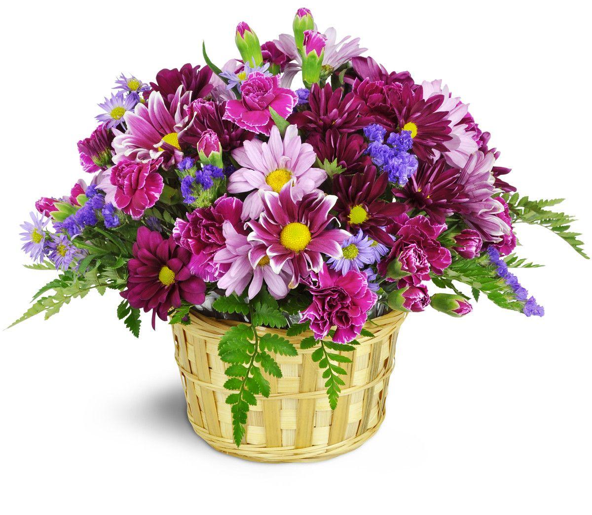 Amethyst Skies Basket™ Flower delivery, Outdoor floral