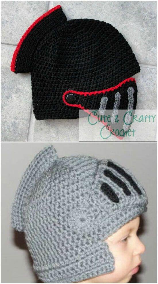 Crochet Knight Helmet Pattern Hats And Ideas PDF (With ...