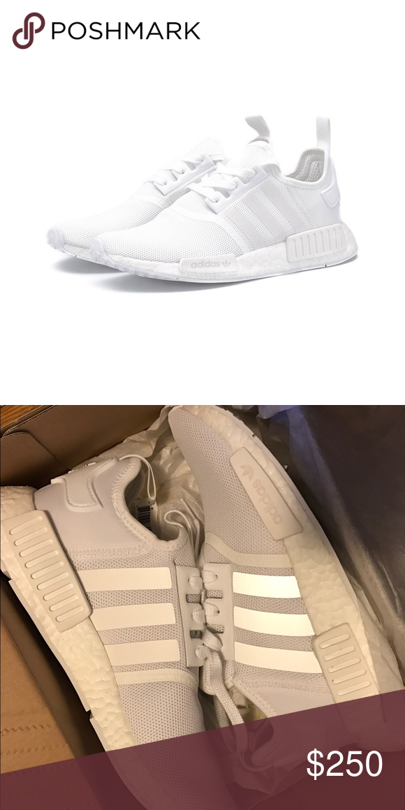new product a40d6 0b7ee Adidas Originals NMD R1 Triple White BA7245 Sz 9 Up for sale is a brand  new, in box, pair of Adidas Originals NMD R1 Triple White (BA7245) US Size  9 100% ...