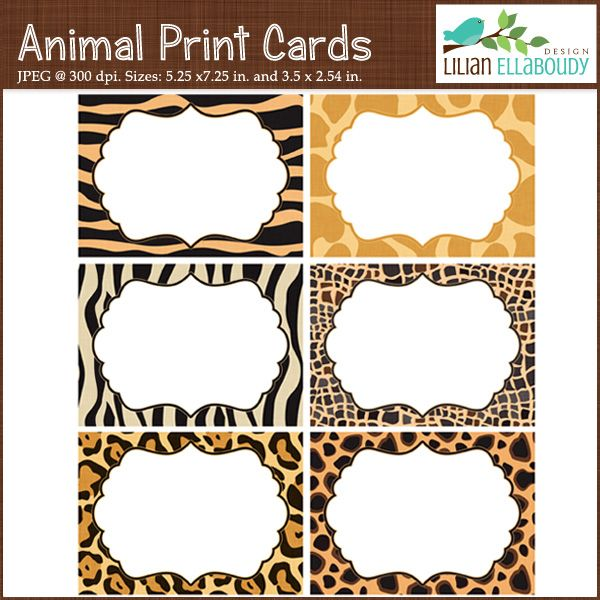 printable templates - animal print cards and invites - mygrafico, Birthday invitations