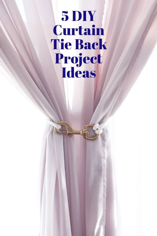 make it 5 diy curtain tie backs diy projects ideas crafts diy curtains curtains. Black Bedroom Furniture Sets. Home Design Ideas