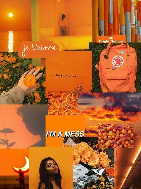 Iphone Tumblr Aesthetic Orange Wallpaper Wallpapershit