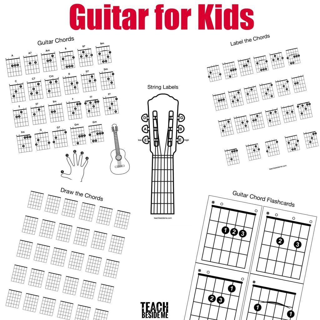 Printable Guitar Chord Chart For Kids