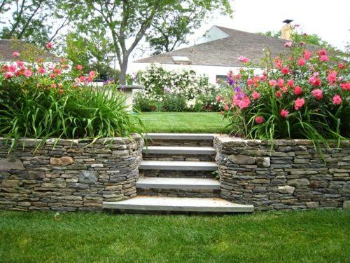 Bilder Zur Vorgartengestaltung Idee Steine Modern Garten Anlegen ... Garten Anlegen Ideen