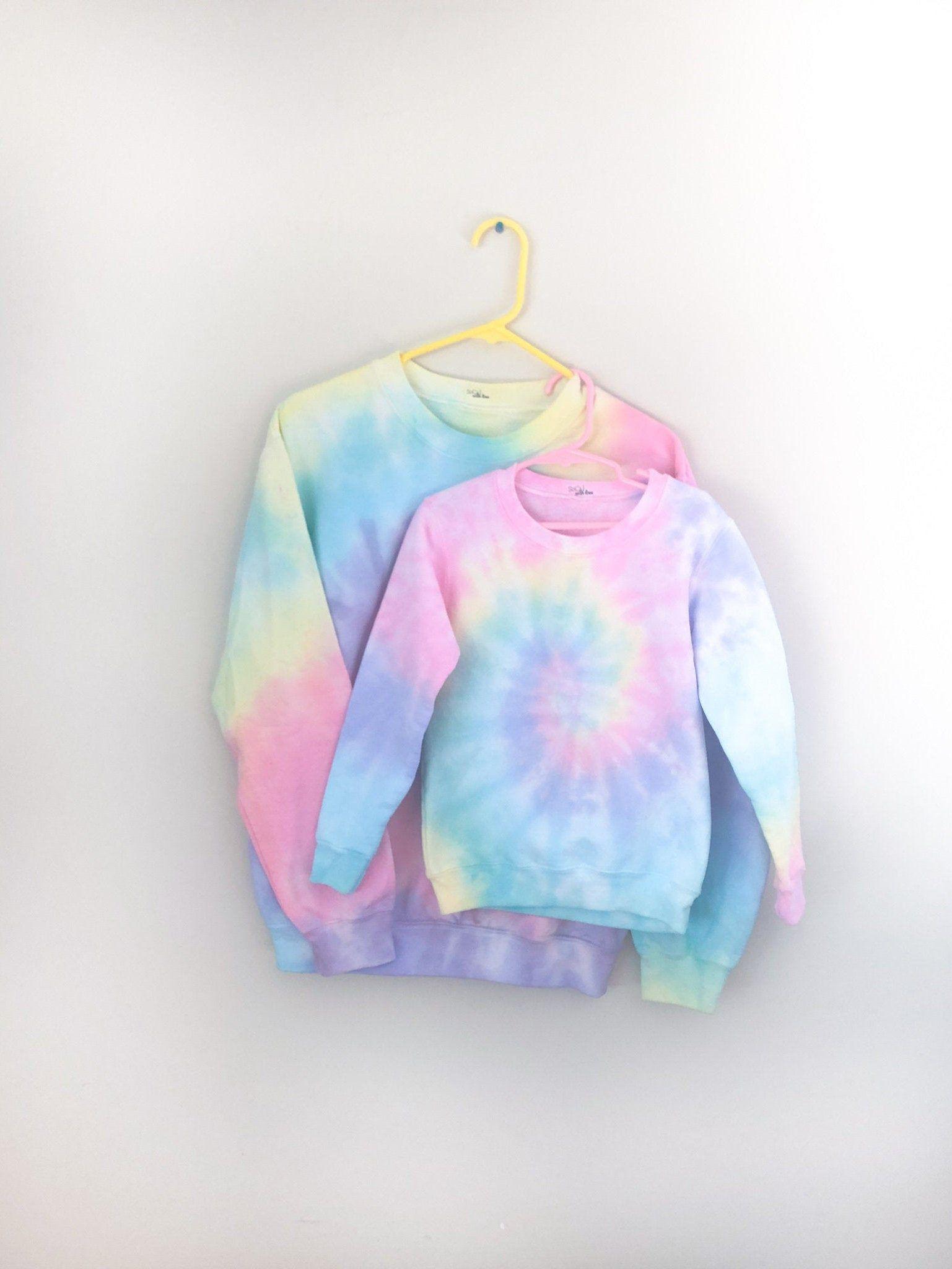 Socal Pastel Rainbow Mommy And Me Tie Dye Sweatshirts Light Etsy Tie Dye Sweatshirt Tie Dye Pastel Rainbow [ 2048 x 1537 Pixel ]