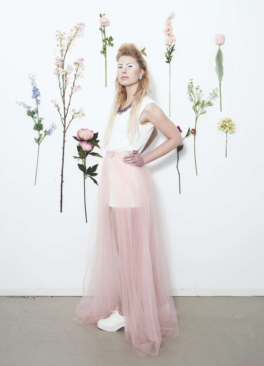 Detachable tulle wedding skirt 'candy snapon' Tulle
