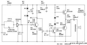 One Chip AM Radio Receiver circuit diagram