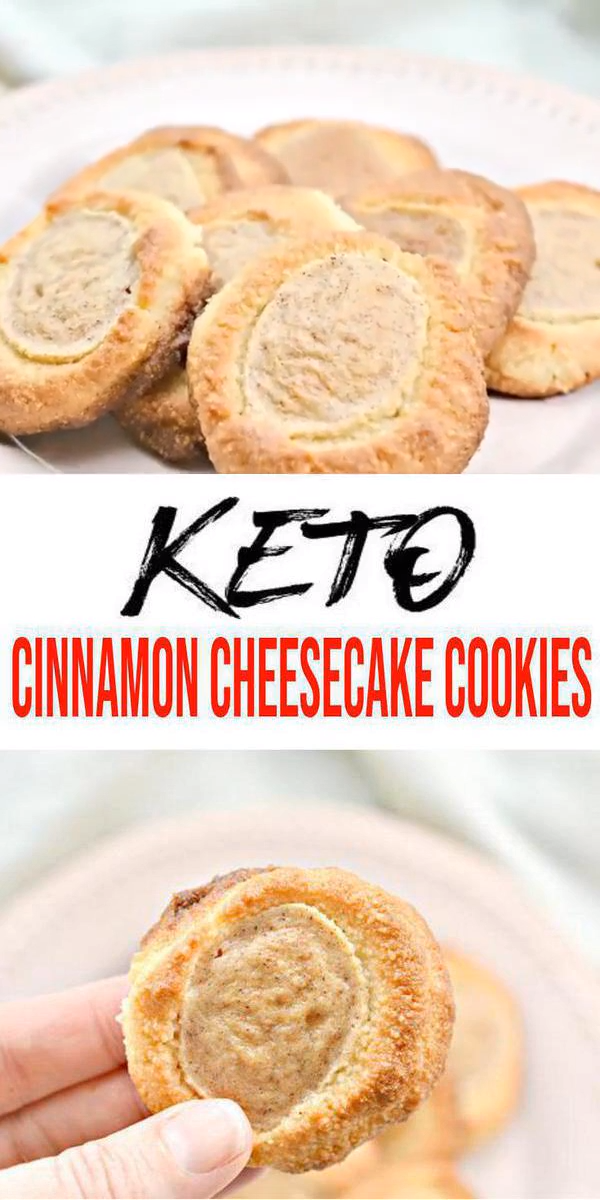 Keto Cookies – Super Yummy Low Carb Keto Cinnamon Cheesecake Cookie Recipe – Best Keto Food Recipe For Ketogenic Diet #ketodesserts