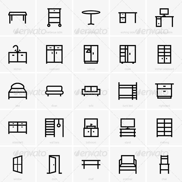 Furniture Icons | Icons and Font logo