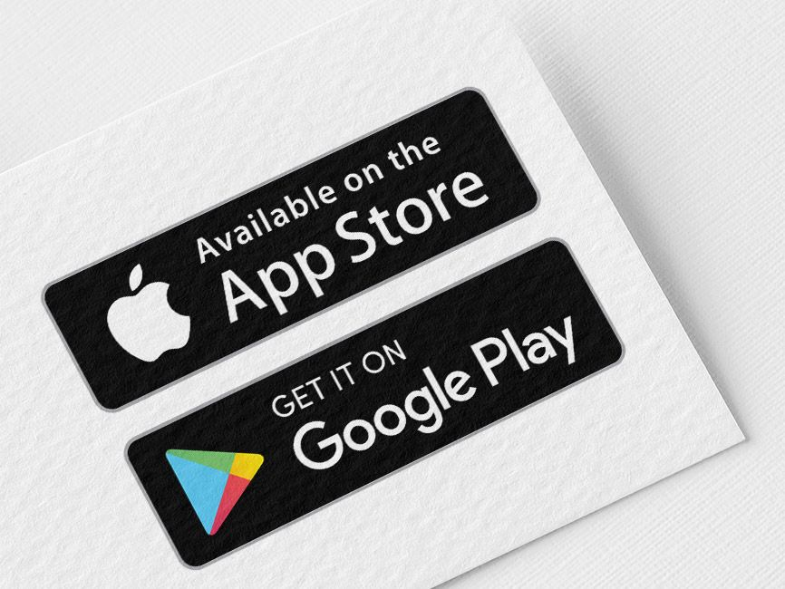 App Store and Google Play Vector Logo 2020