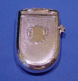 Victorian Silver Vesta Case And Wick Holder - Daniel Bexfield Antiques.