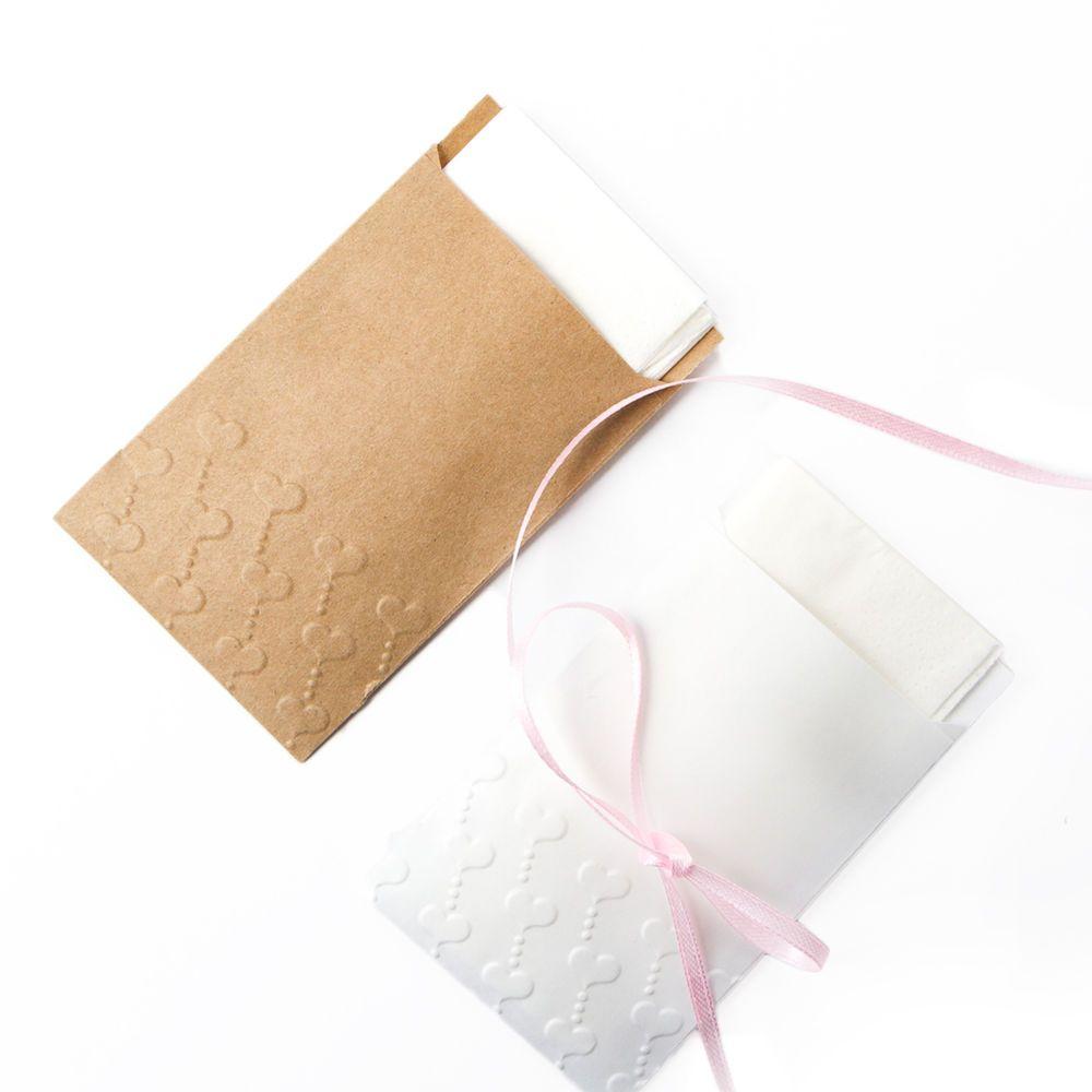 10 mini Kraftpapier FLACHBEUTEL Papiertüten Tüten Tütchen Prägung Freudentränen
