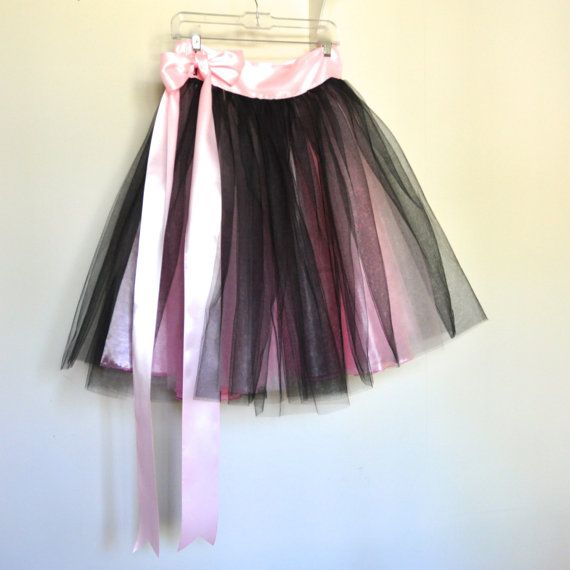 Negro rosa y fucsia falda tutú para las por TutusChicBoutique