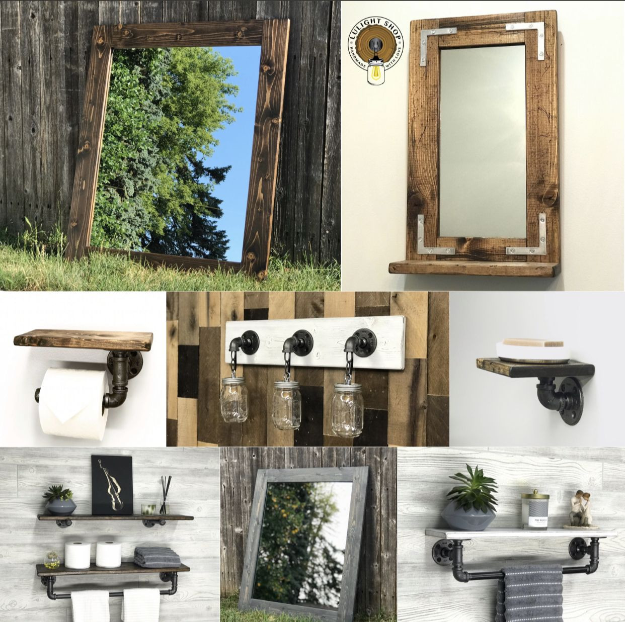 HANDMADE FARMHOUSE RUSTIC LIGHTING AND HOME DECOR by
