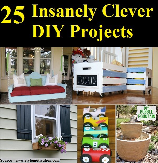 25 Insanely Clever DIY Projects | Rustic diy projects, Diy ...
