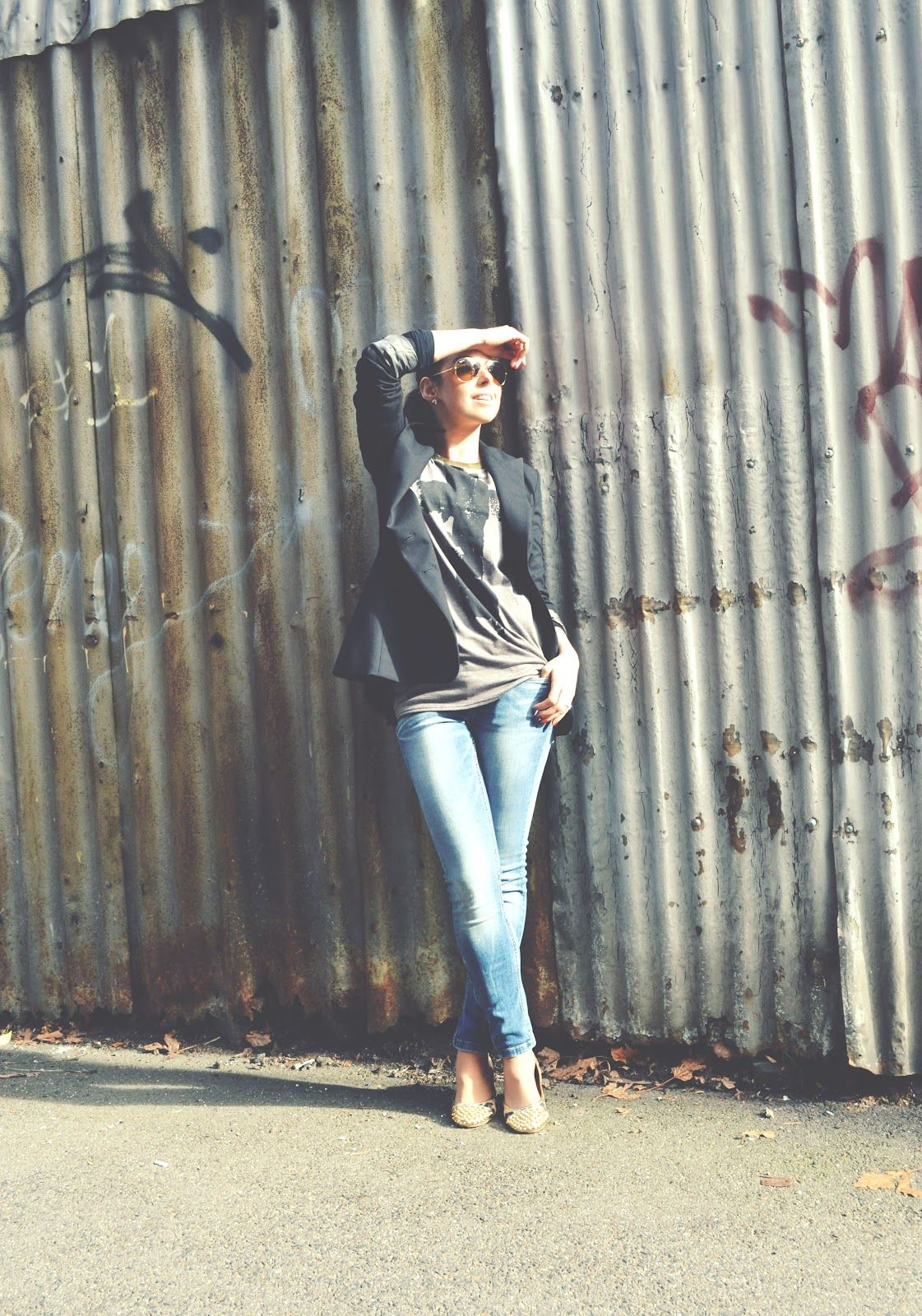 Michelle from Michelle's Style File rocking our Don't Cross Me Top  www.hexeffex.com.au