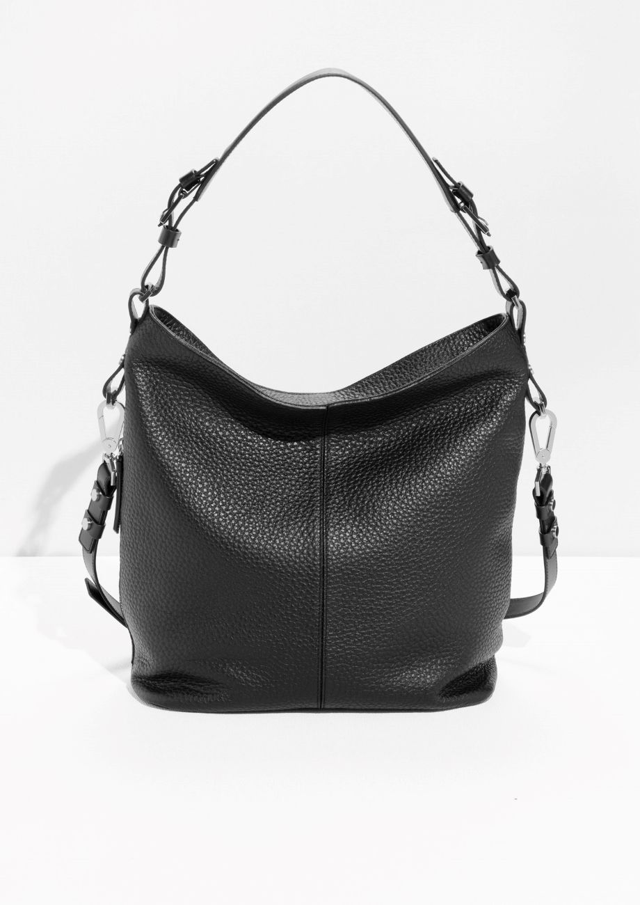 Other Stories Image 1 Of Grain Leather Hobo In Black Leather Hobo Bag Leather Hobo Hobo Handbags