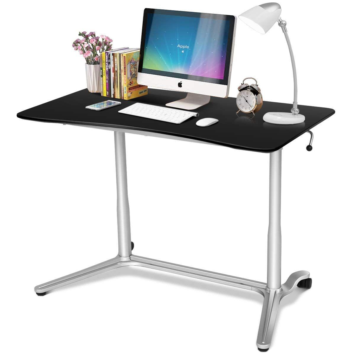 Tangkula Standing Desk Computer Desk Adjustable Computer Desk Height Adjustable Computer Desk Computer Stand For Desk