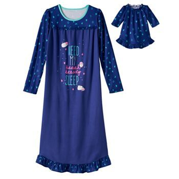 2 Piece Holiday Nightgown Pajamas With Matching Doll Outfit ~ Size 2T ~ NWT