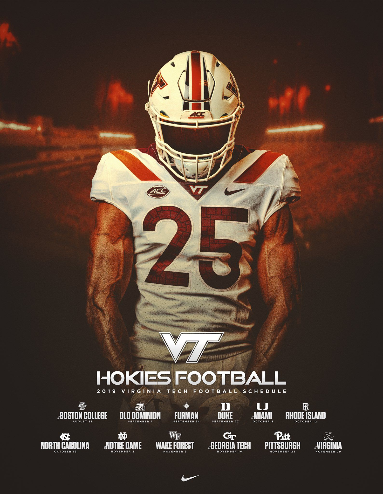 Pin By Josh Neuhart On Sposters Hokies Football Hokies Virginia Tech Football