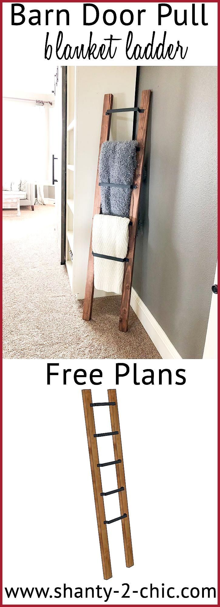 Barn Door This DIY Barn Door Pull Blanke  This DIY Barn Door Pull Blanket Ladder is a super easy and fast project Informations About Diese DIY Barn Door Pull Blanke Pin Y...