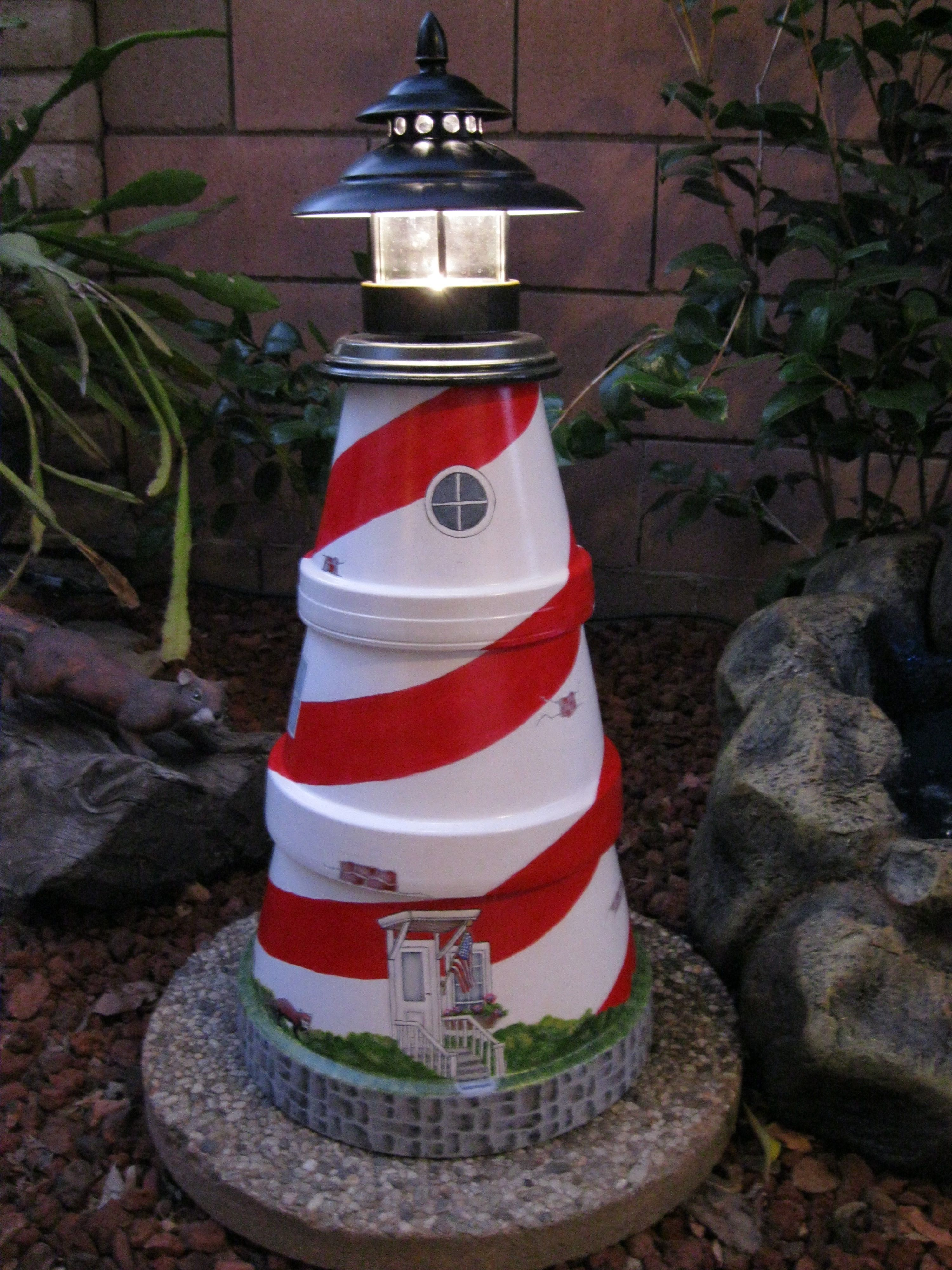 lighthouse craft ideas lighthouse made from clay pots my own creations projects 2348