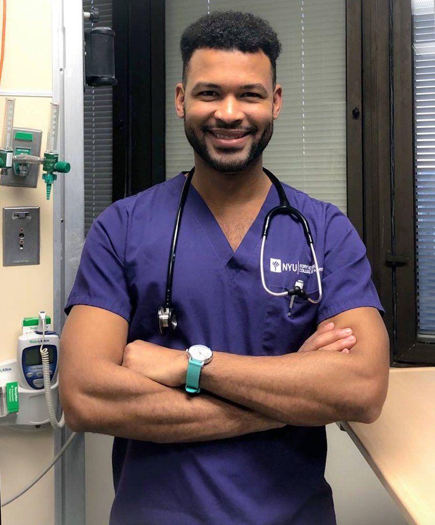 Man Graduates with Nursing Degree from University Where He