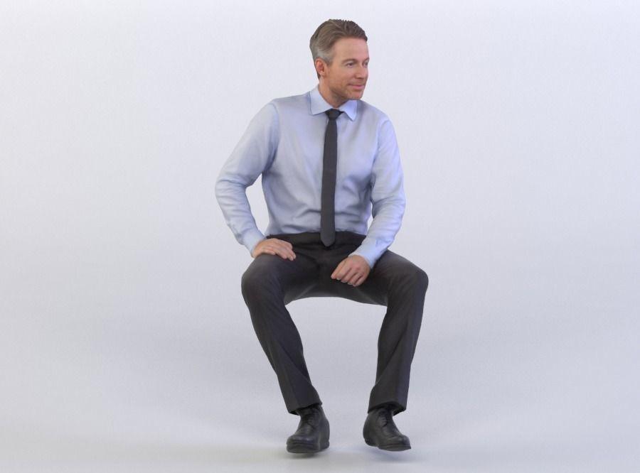 Dennis 0277 Business Man Sitting 3d Model Man Sitting Sitting Poses Business Man