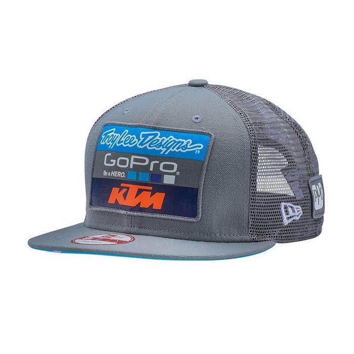 Troy Lee Designs TLD KTM Team Snapback Hat Charcoal