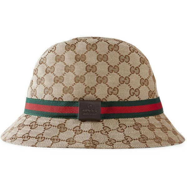 17268526 Gucci Original Gg Canvas Fedora With Web (€230) ❤ liked on Polyvore  featuring accessories, hats, women, fedora hat, gucci fedora, gucci hat,  band hats and ...