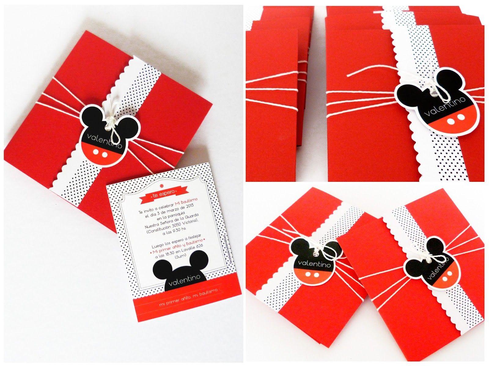 Invitaciones De Cumpleaños Mickey Mouse - Hd Para Bajar Gratis 3 ...