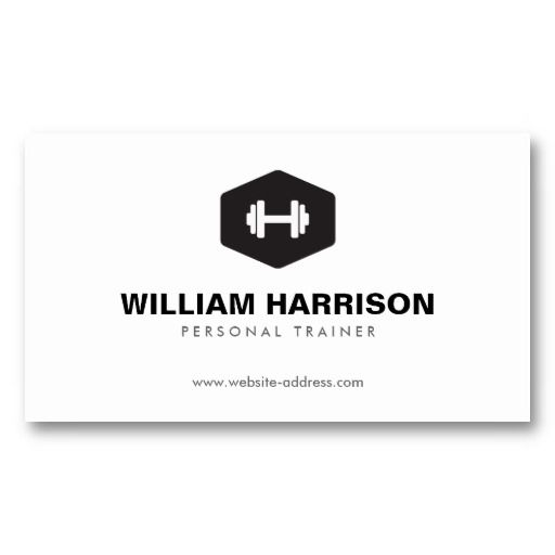 Modern dumbbell logo for personal trainer fitness business card modern dumbbell logo for personal trainer fitness business card trainer fitness personal trainer and card templates cheaphphosting Image collections