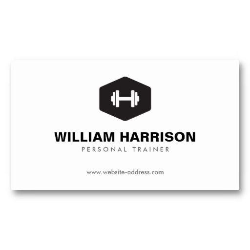 Modern dumbbell logo for personal trainer fitness business card modern dumbbell logo for personal trainer fitness business card fbccfo Images