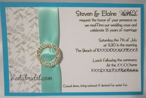 17 Best images about invitations – Renewal of Vows Invitation Cards