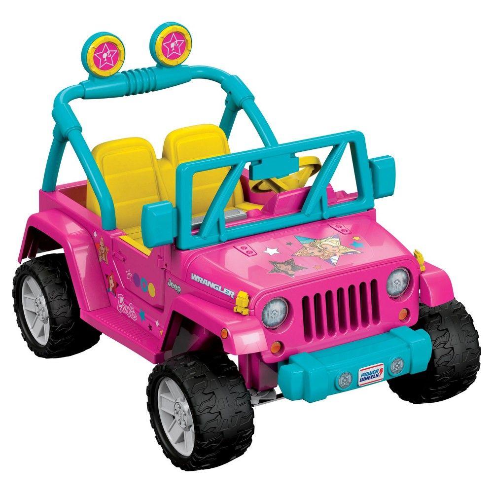 Power Wheels Barbie Jeep Wrangler Pink Power Wheels Jeep