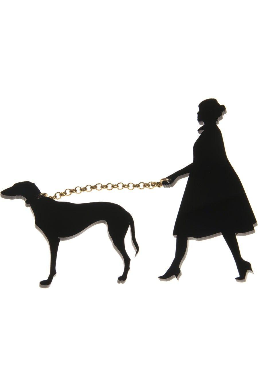 Lady  Dog Brooch. From Tatty Devine
