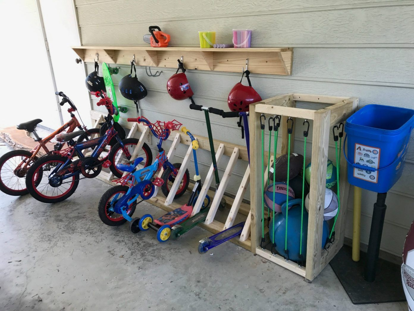 Photo of Garage Organization and Bike Rack | Stone and Sons Workshop