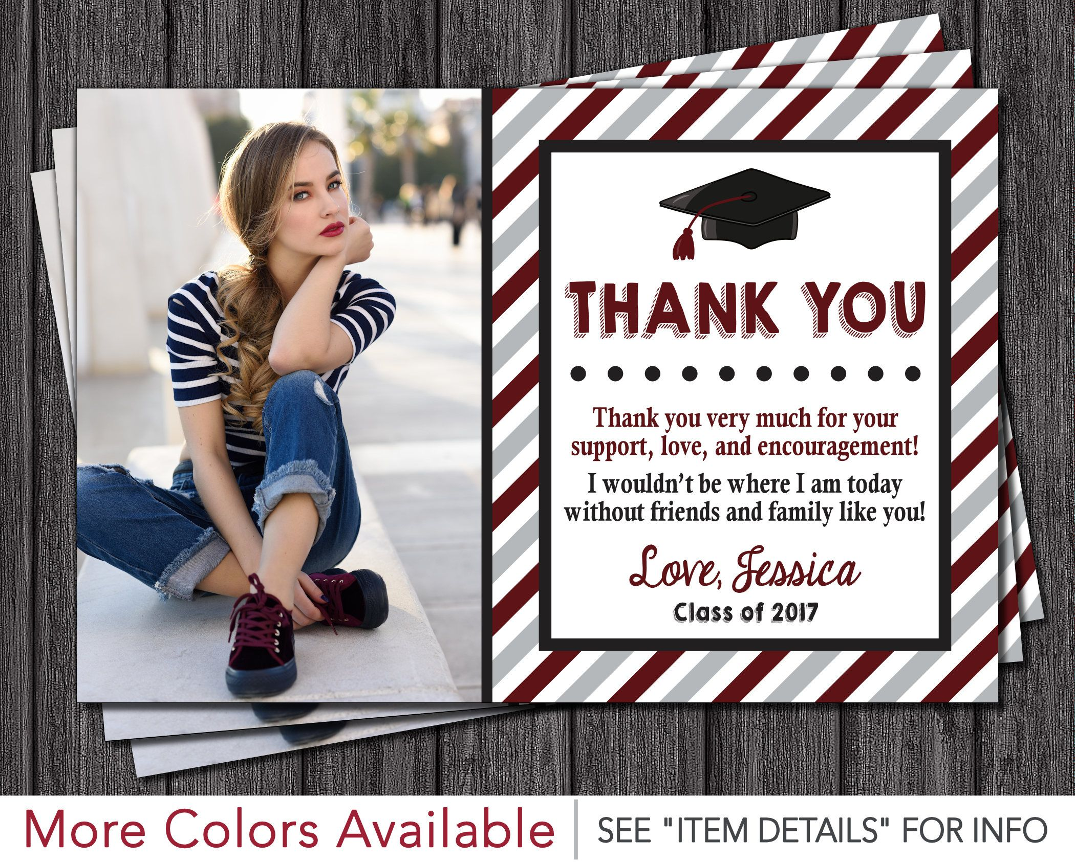 Graduation Thank You Card - Graduation Party Thank You Card by