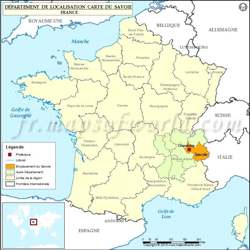 Carte De Localisation De La Savoie Avec Images Localisation